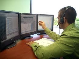trader at desk