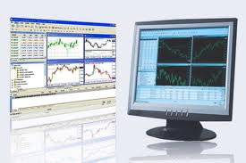 trading software on a screen