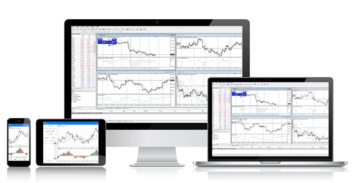 currency charting software on a pc screen