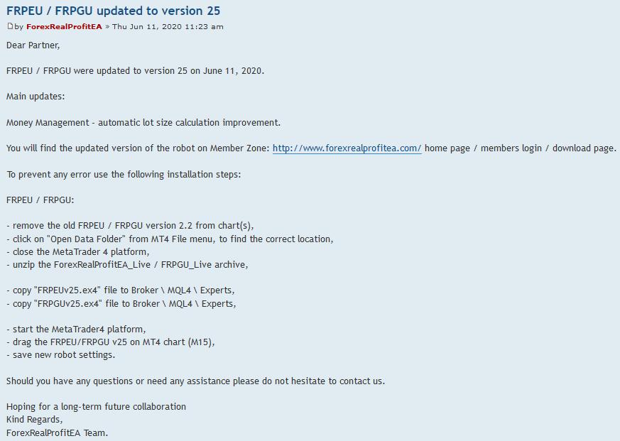forum updates